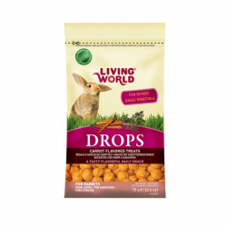 LIVING WORLD DROPS CONEJO ZANAHORIA 75g