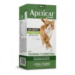 APETICAT Jarabe Suplemento vitaminico TAURINA-CARNITINA para gatos. Estimulante del apetito. Bioenergizante 100 ml (DRAG PHARMA)