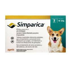 SIMPARICA 10 A 20 KG 3 COMP