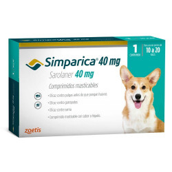 SIMPARICA 10 A 20 KG 1 COMP