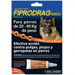 FIPRODRAG PERRO 20 A 40 KG
